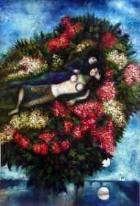 Lovers in the Lilacs_1930 by Marc Chagall
