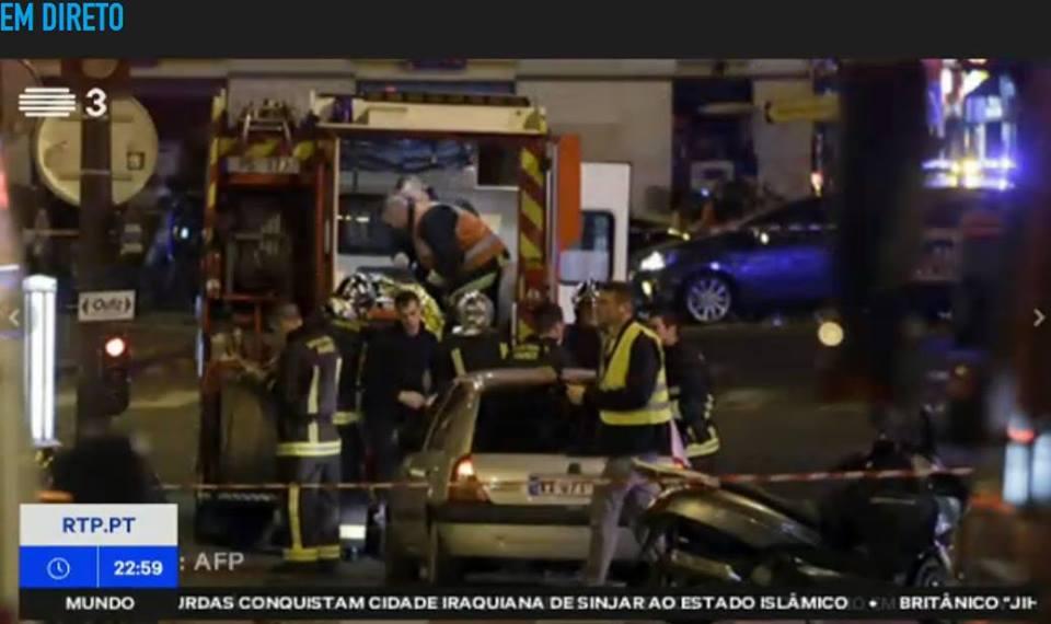 imagem dos atentados em França, onde morreu um taxista português