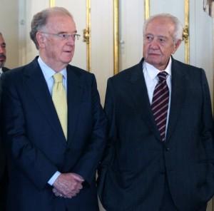 Mário Soares e Jorge Sampaio