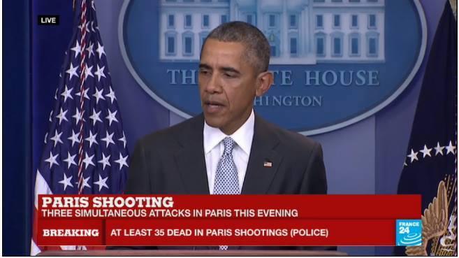 Presidente Obama - Declarações sobre os ataques em Paris