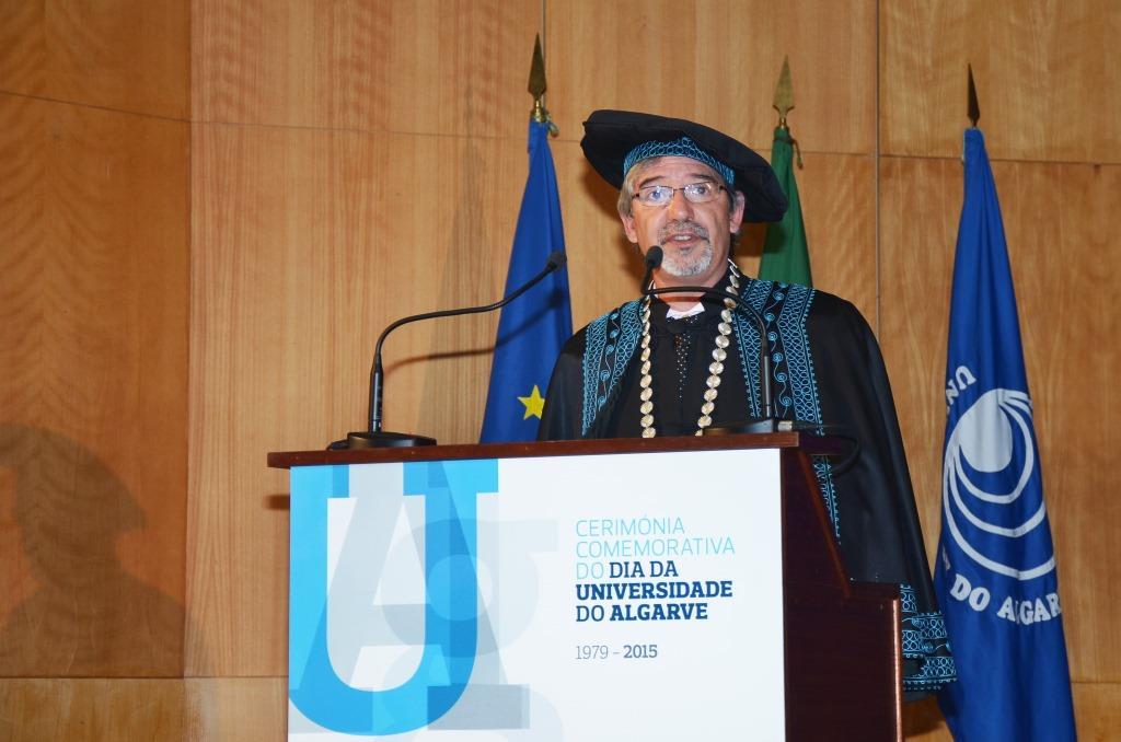 Universidade do Algarve - reitor António Branco na cerimónia comemorativa do 36º aniversário da instituição