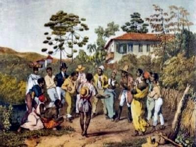 """Dança do """"batuqe"""", origem do samba"""