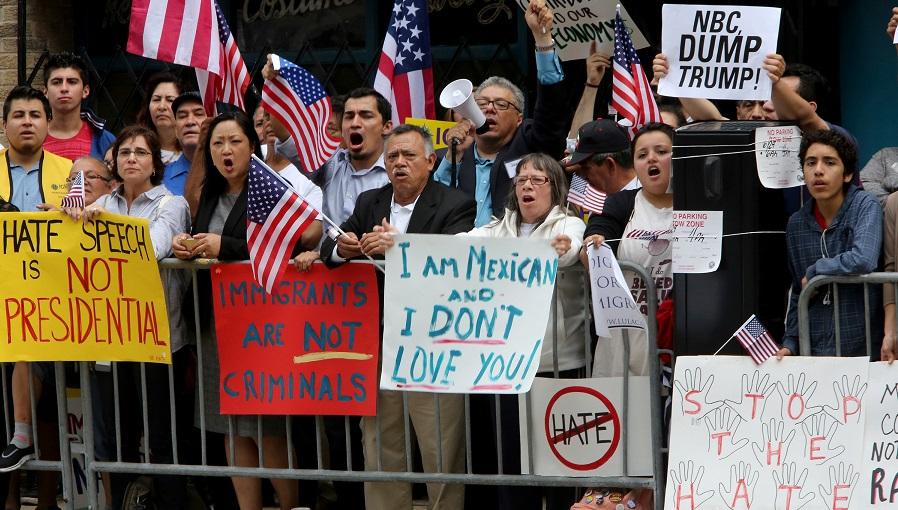 Manifestação anti-Trump