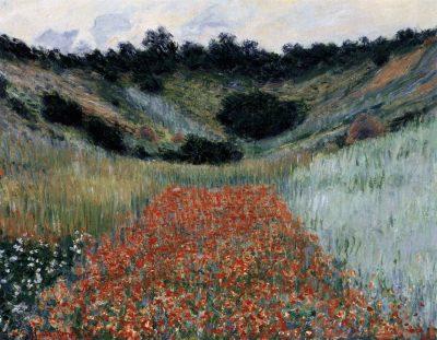Monet-Campo de papoulas perto de Giverny