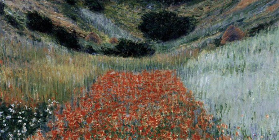 Impressionistas-Monet-Campo de papoulas-Giverny