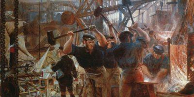 Ferro e Carvão, de William Bell Scott (1855-60). Revolução Industrial