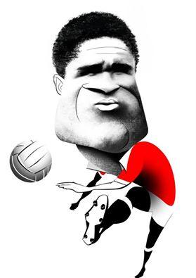 Caricatura de homenagem a Eusébio da Silva Ferreira (personal work) 10/01/2014