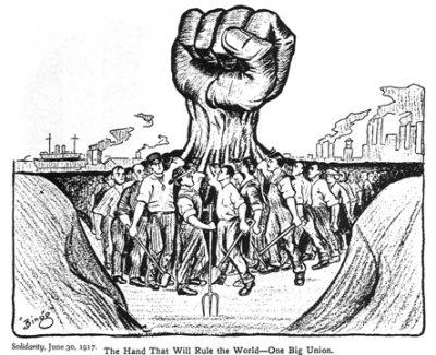 A mão que regulará o mundo - propaganda proletária