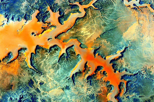 Foto de Scott Kelly - Sudeste do Sahara