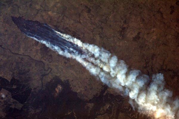 Foto de Chris Hadfield - Incêndios na Austrália