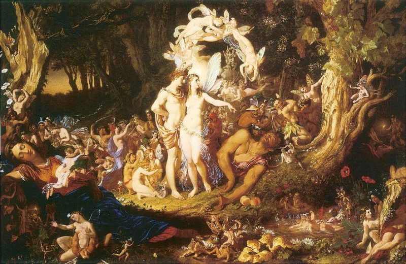"A Midsummer Night's Dream - ""The Reconciliation Of Oberon And Titania"" by Joesph Noel Paton"