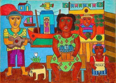 "Desenho de Marcos Garcia, artista de Minas Gerais - ""O Acrobata das Cores"""