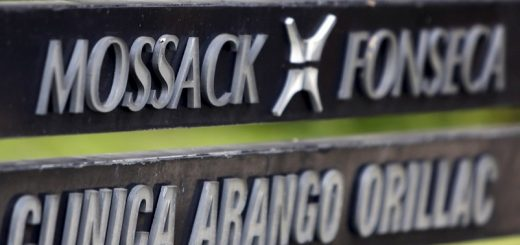 A company list showing the Mossack Fonseca law firm is pictured on a sign at the Arango Orillac Building in Panama City April 3, 2016. REUTERS/Carlos Jasso       TPX IMAGES OF THE DAY