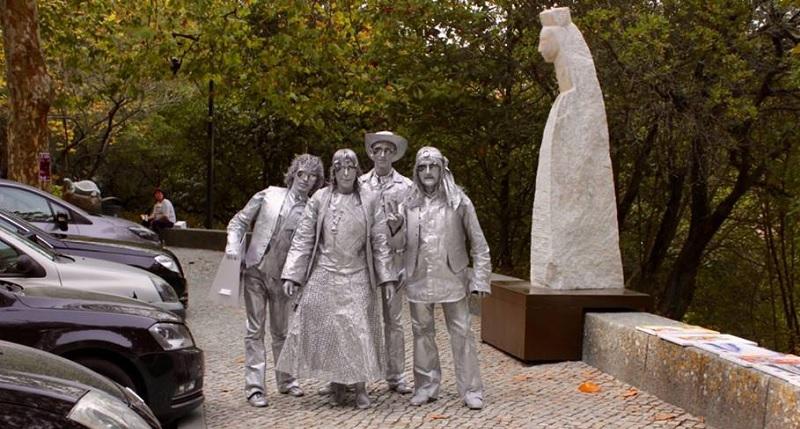 Sintra   Festival de estatuas vivas figurantes