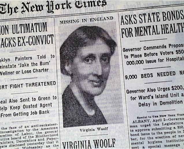 Manchete do New York Times anuncia desaparecimento da escritora