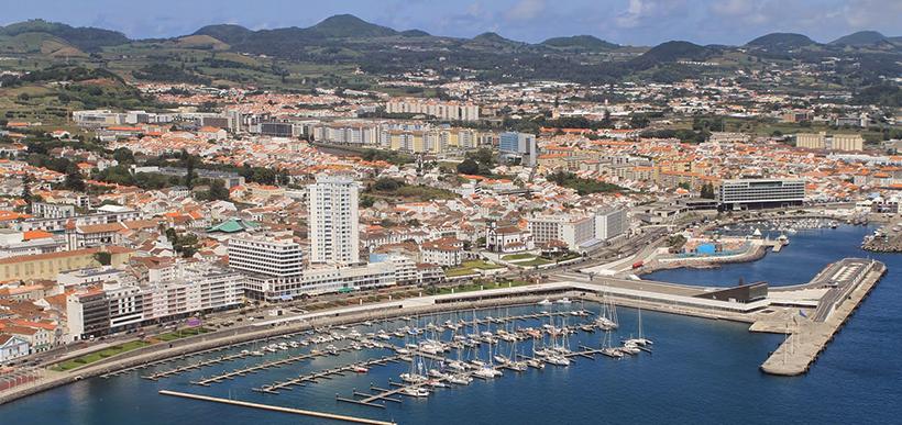Vista aérea de Ponta Delgada