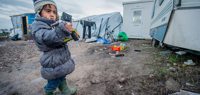 Campo concentraçao / Refugiados - Calais