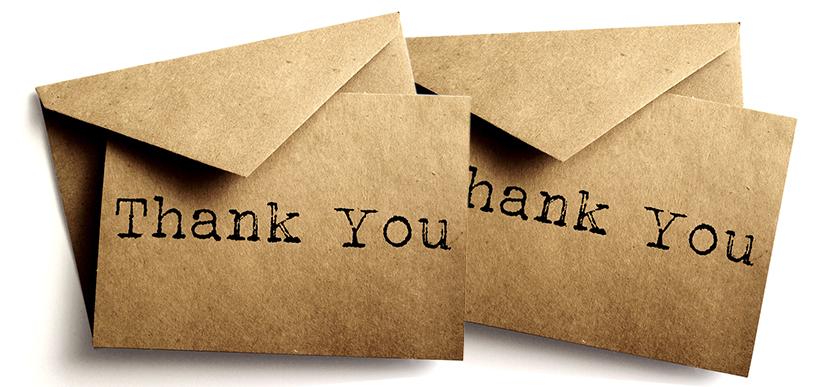 carta de gratidão