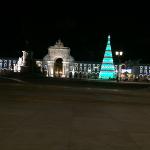 Lisboa à noite, árvore de Natal do Terreiro do Paço