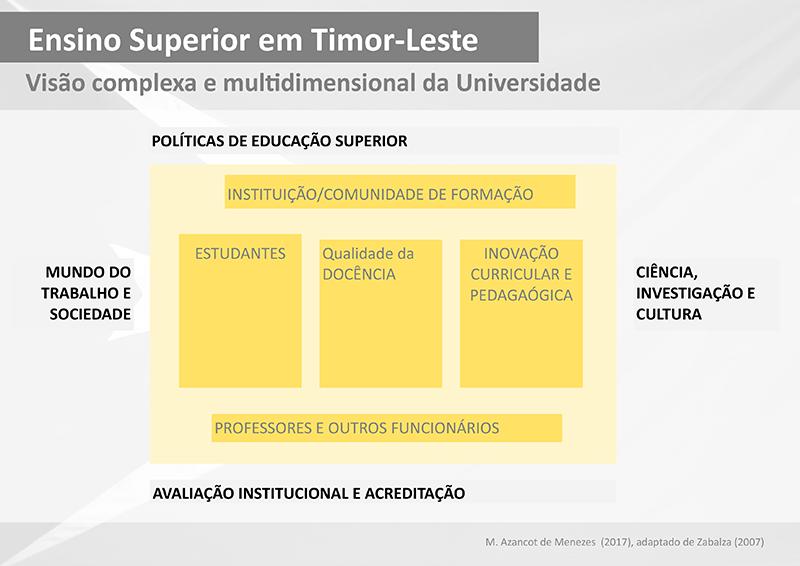 visão complexa e multidimensional da universidade