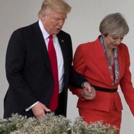 Theresa May em Washington | Crédito: Stephen Crowley/The New York Times/Redux/eyevine