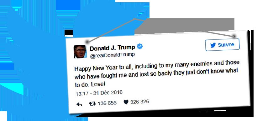 """Venenosos Votos de """"Happy New Year"""" de Trump"""