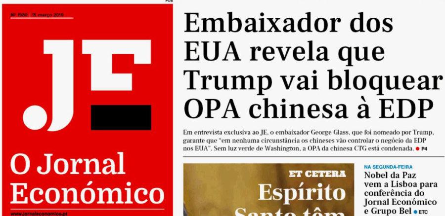 OPA Chinesa à EDP Morre às Mãos de Trump