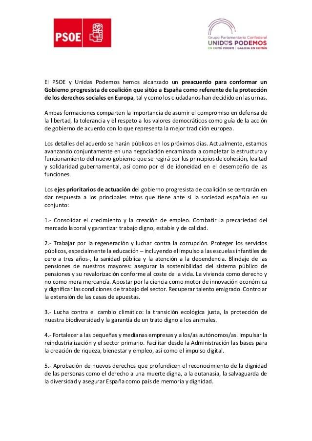 O Governo Sanchez-Iglesias nas mãos dos Republicanos da Catalunha